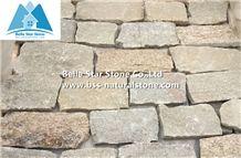 Yellow Granite Fieldstone Veneer,Sesame Yellow Slate Thin Ledgestone,Natural Field Stone Veneer,Landscaping Wall Irregular Stone,Yellow L Corner Stone,Loose Culture Stone,Random Stone Wall Cladding