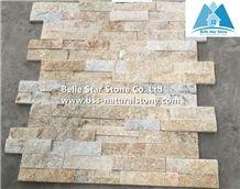 Yellow Jade Quartzite Stone Cladding,Quartzite Culture Stone,Yellow Stacked Stone,Natural Thin Stone Veneer,Outdoor Quartzite Ledgestone,Stone Wall Panels