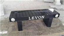 Chinese G342 Granite Bench,Lingqiu Venus Black,Shanxi Black A,Taibai Dark Green,Taibai Black Granite Garden Bench