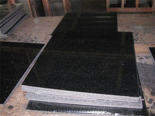 Good Price Spark Black Granite Tiles Slabs Sparkle Black Granite
