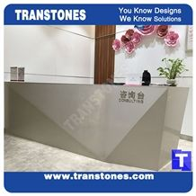 3d Surface Quartz Stone Reception Tops,Binaco Artificial Marble Counter Tops,Engineered Stone Panel for Desk, Solid Surface Panel Glass Stone Bench Tops Interior Furniture