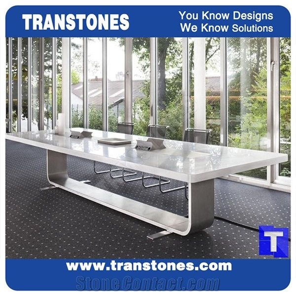 Best Price Modern Design Artificial Marble White Acrylic Conference