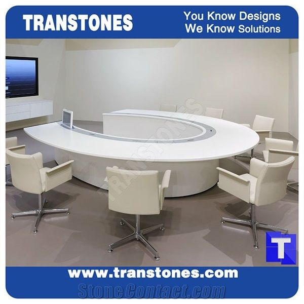 Best Price Modern Design Artificial Marble White Acrylic Conference - Stone conference table