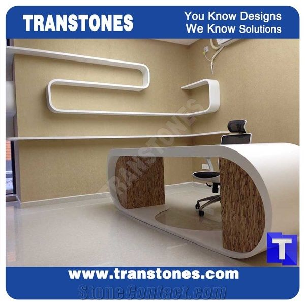 Modern Office Desk Executive Office Table Set Acrylic Solid Surface White  Marble Artificial Stone For Office Furniture,Interior Stone