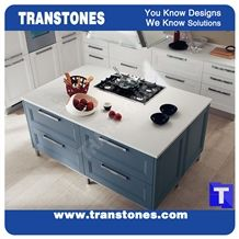 Snow White Quartz Stone Rectangle Kitchen Worktops,Binaco Artificial Marble Counter Tops,Engineered Stone Panel for Desk, Solid Surface Panel Glass Stone Bench Tops,Islands Top, Interior Furniture