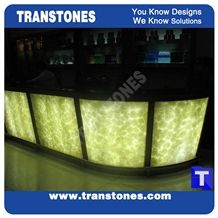 Verde Bursa Artificial Alabaster Backlit Tile Panel,Engineered Glass Onyx Translucent Stone Green Tiles for Bar Tops,Club Reception Table Countertops,Worktops,Transtones Customized
