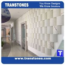White Artificial Stone Marble 3d Design Wall Panel,Engineered Stone Solid Surface Free Style Walling Stone,,Interior Stone Design Acrylic Spray Wave Surface Home Decor,Transtones Customized