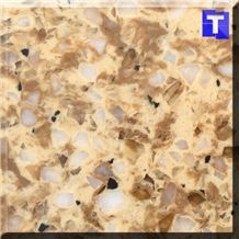 White Crystal Quartz Stone Tiles,Slabs,Engineered Stone Solid Surface Granite Look Quartz Sheet Stone Walling Panel for Kitchen Countertops,Vanity Tops