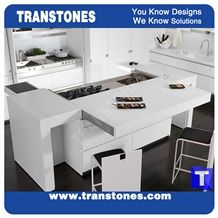White Quartz Stone Kitchen Worktops,Bar Tops,Binaco Artificial Marble Counter Tops,Engineered Stone Panel for Desk, Solid Surface Panel Glass Stone Bench Tops,Islands Top Interior Furniture
