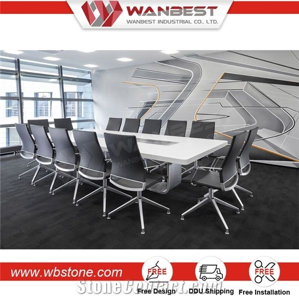 Hot Selling Artificial Granite Conference Table Board Room Table Luxury Conference  Table Made In China