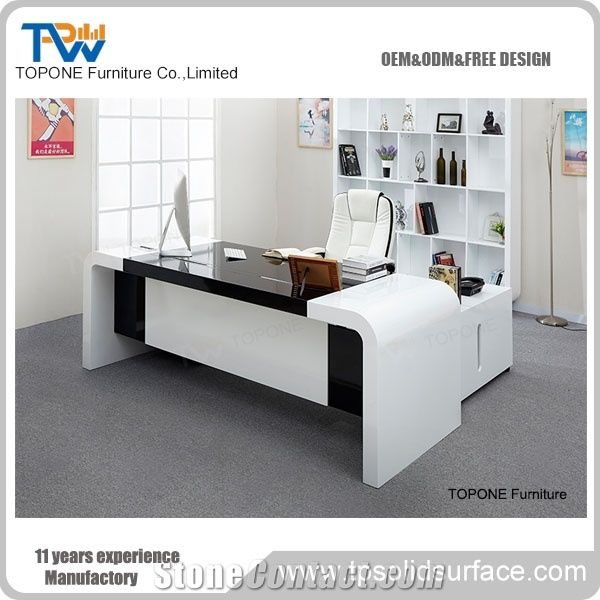Artificial Marble Stone Latest Office Table Designs Writing ...