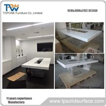 Chinese Factory Supply Custom Design Artificial Marble Stone Office Conferecne Tables/Acrylic Solid Surface Office Meeting Tables Interior Stone Office Furniture