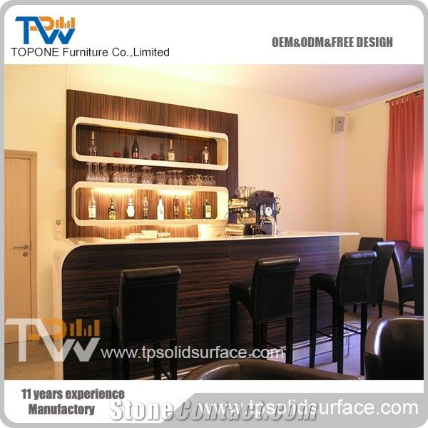 Economic Home Used Artificial Marble Stone Juice Bar Counter Tops