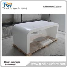 Factory Price High Gloss Surface Artificial Marble Stone Acrylic Solid Surface Office Tables Furniture/Italian Design Corian Acrylic Interior Stone Office Executive Desk