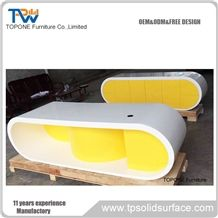 Factory Price New Design Interior Stone Office Furniture Acrylic Solid Surface Manager Desk/Artificial Marble Stone Executitive Office Tables/Custom Design Acrylic Solid Surface Office Furnitue