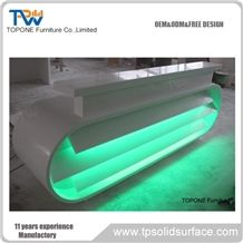 White Artificial Marble Stone Acrylic Solid Surface Reception Counter Tops/Interior Stone Reception Desk with Artificial Stone Desk Top for Sale