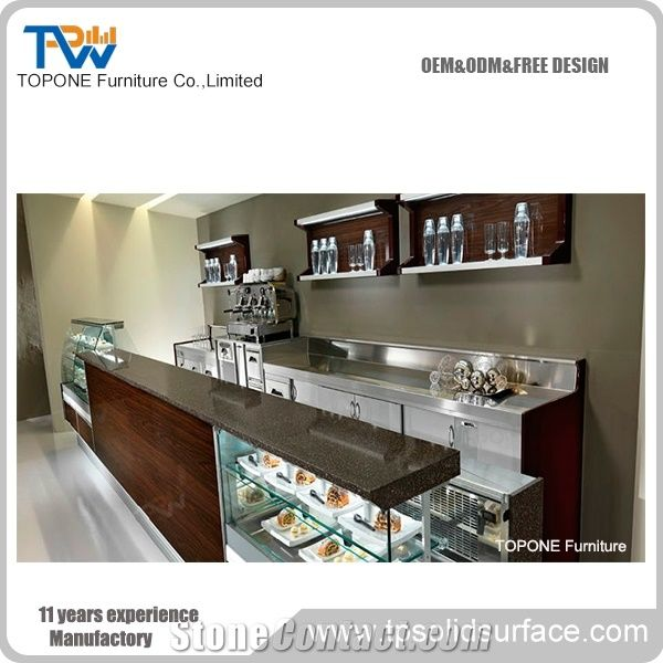 Wholesale Artificial Stone Bar Table Tops Restaurant Bar Counters - Corian restaurant table tops