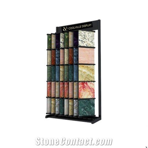 Wire Frames Sliding Display Racks for Ceramic Tile Stone Hardwood ...