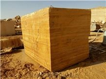 Lemon Travertine Blocks, Iran Yellow Travertine,Travertine Block, Walnut Travertine