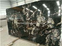 Own Factory Good Price Brazil Polished Matrix Titanium/ Cosmic Black/Cosmic Black Titanium/Titanium Mc Granite/Titanium Black/Cosmic/Night,Granito Preto Cosmico Granite Slabs & Tiles & Cut-To-Size