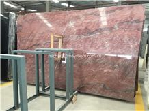 Own Factory Lowest Price Brazil Polished Revolution Fire Quartzite, Red Quartzite Big Slabs & Tiles, Cut to Size for Wall and Floor.