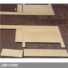Best Quality Silver Travertine with Grey Veins Hotel Bath Tops, Polished Travertine Tops in Wholesale