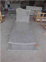 G603 Light Grey Granite Tombstone, Light Grey Granite Monument,G603 Tombstone,Western Style Monuments,Upright Monuments