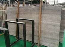 Coffee Wooden Grey Marble Slabs & Tiles