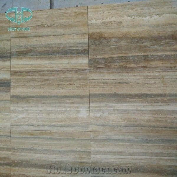 Abyaneh Travertine Cream Travertine Vein Cut Tiles Slabs Beige