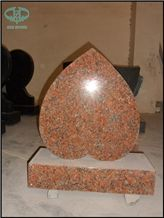 Indian Red Granite Double Heart Monument P2 Brp