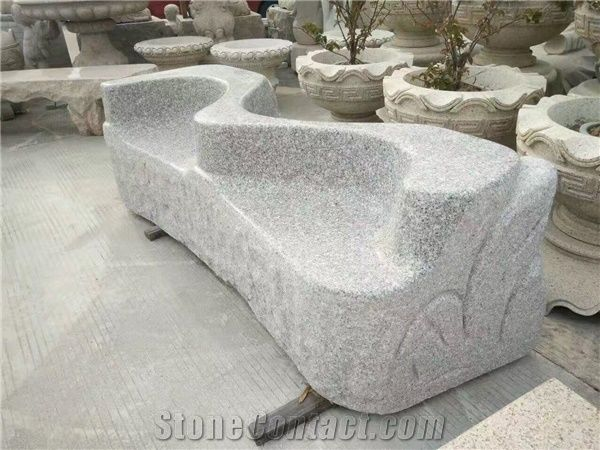 Super China White Granite Garden Bench Polished Outdoor Benches Machost Co Dining Chair Design Ideas Machostcouk