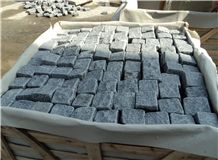 China Cheap G654 Padang Dark Grey/Sesame Black Surface Flamed,Others Sawn Cut Cube Stone/Cobblestone/Paving for Patio,Driveway, Walkway, Pavers Outdoor Natural Stone Flooring, Quarry Owner Factory