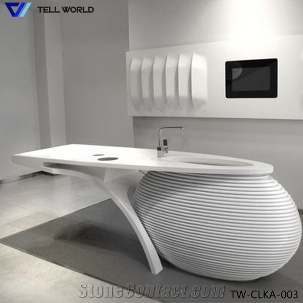 2017 Artificial Marble Stone Kitchen Furniture Workstation Worktops