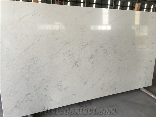 Sy3008 China High Quality Price London Grey White Marble Look Artificial Quartz Stone For Kitchen Countertop