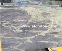 Amazon Blue Marble Slab,Purple and Green Marble