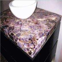 Translucent Semiprecious Stones Amethyst Stone Amethyst Vanity Tops
