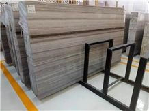 Best China Crystal Wood Marble, Galaxy White Wooden Marble, Silver Serpeggiante, Chinese Chenille Beige Marble Slab, Tile