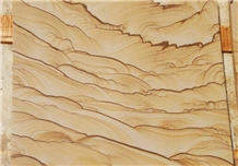 Chinese Yellow Landscape Pattern Sandstone Slabs