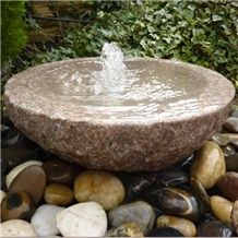 Pink Granite Babbling Bowl Pink Water Feature Kit