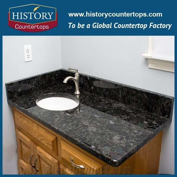Laminated Bathroom Vanity Building Material Granite Stone Standard Size And Custom Tops In