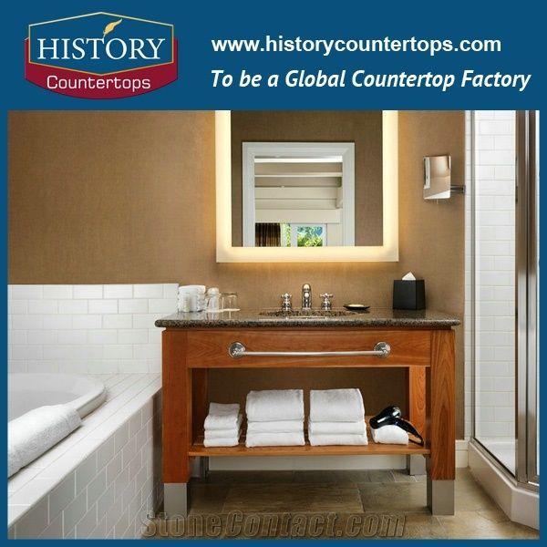 Precut Half Bullnose Natural Stone Bathroom Tops Solid Surface Vanity For Granite Best Price Kitchen Island Countertops Multi Family