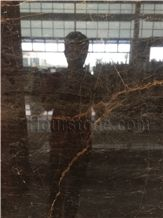 Chinese Polished Brown Marble Slabs & Tiles, Dior Gold Marble Wall Covering Tiles, Dior Brown Marble Floor Covering Tiles