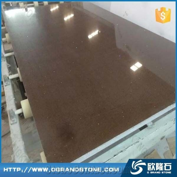 Dark Brown Quartz Stone Slab Whole