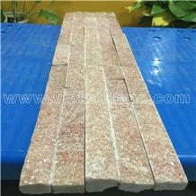 China Rosa Peach Quartzite Stacked Stone Veneer Feature Wall Cladding Panel Ledge Stone Rock Natural Split Face Mosaic Tile Landscaping Building Interior & Exterior Decor Culture Stone 60x15cm