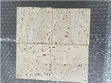 Quarry Direct Supply Rome Travertine Iran Beige Travertine Slabs & Tiles & Floor Covering Tiles & Wall Tiles, No Polished Cutting Surface Rough Surface with Holes Rome Beige Travertine Tiles & Slabs