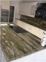 Tropical Green Quartzite Kitchen Countertop