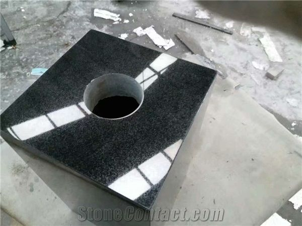China Shanxi Absolutely Black Granite Square Rectangle Tombstones
