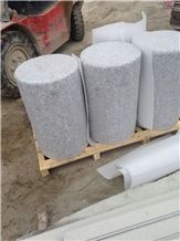North G603 Silver Grey Granite Flamed Surface Parking Pillars Columns Parking Stop Stones Competitive Prices