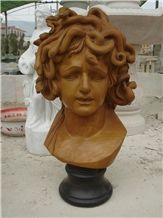 Hand Carved Marble Bust Medusa