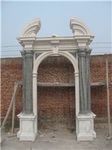 Marble Door Surround with Column and Arch